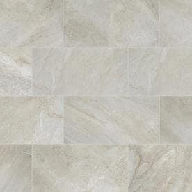 Style Selections Classico Taupe 12-in x 24-in Porcelain Floor and Wall Tile (Common: 12-in x 24-in; Actual: 11.81-in x 23.62-in)