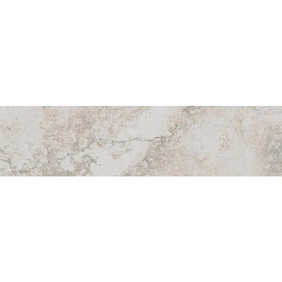 Style Selections Geneseo Beige Porcelain Floor and Wall Tile (Common: 6-in x 24-in; Actual: 23.5-in x 5.84-in)