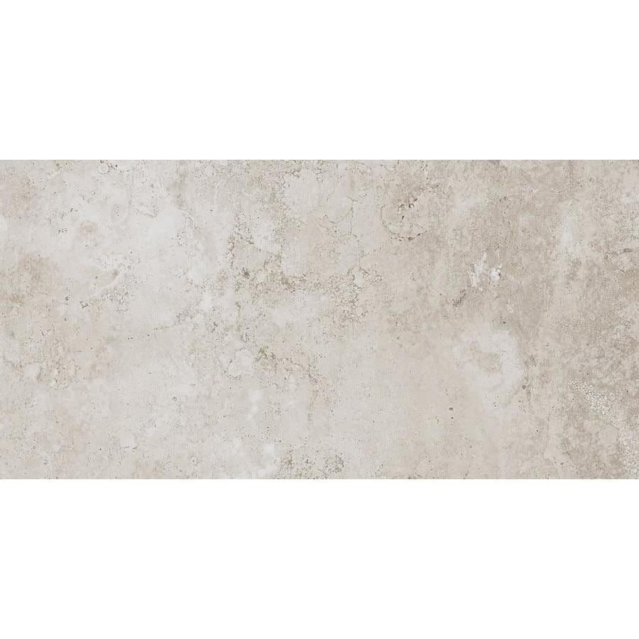 Style Selections Geneseo Beige Porcelain Floor and Wall Tile (Common: 12-in x 24-in; Actual: 23.56-in x 11.68-in)
