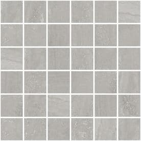 Style Selections Ridgemont Silver 12-in x 12-in Porcelain Uniform Squares Mosaic Floor and Wall Tile (Common: 12-in x 12-in; Actual: 11.73-in x 11.73-in)