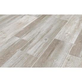 b5d55bea598 Style Selections Woods Vintage Gray 6-in x 24-in Porcelain Wood Look Floor