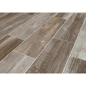 Style Selections Woods French Gray Porcelain Wood Look Floor And Wall Tile Common 6