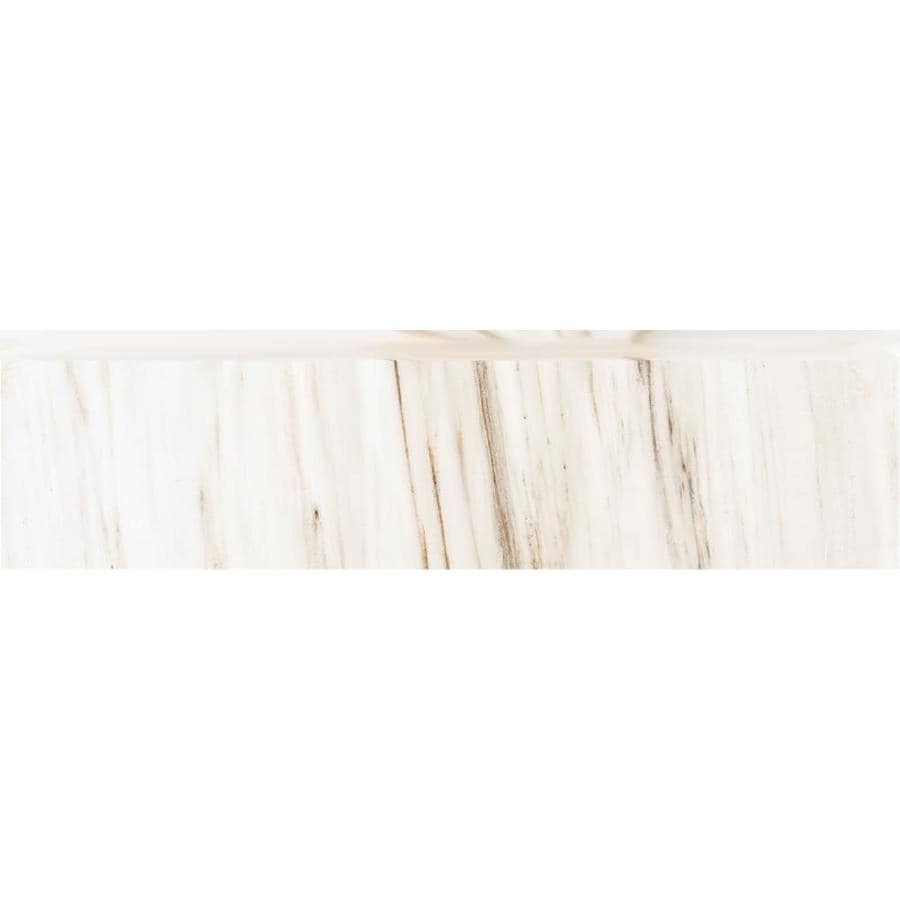 Style Selections Corinth White Porcelain Bullnose Tile (Common: 3-in X 12-in; Actual: 2.76-in x 11.76-in)
