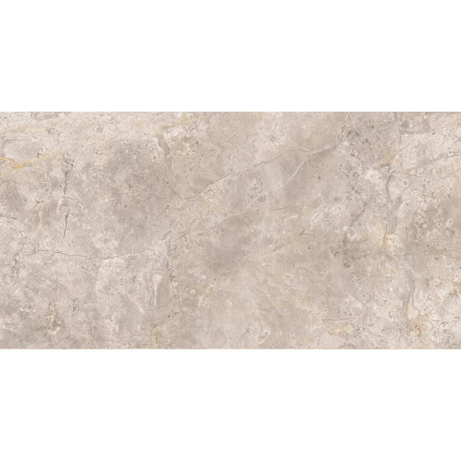 Shop Style Selections Chelsea Brown Porcelain Travertine Floor and ...