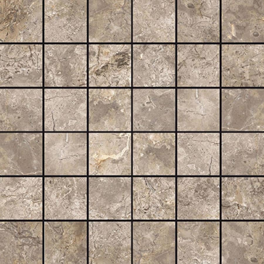 Style Selections Chelsea Brown Porcelain Border Tile (Common: 12-in x 12-in; Actual: 11.76-in x 11.76-in)