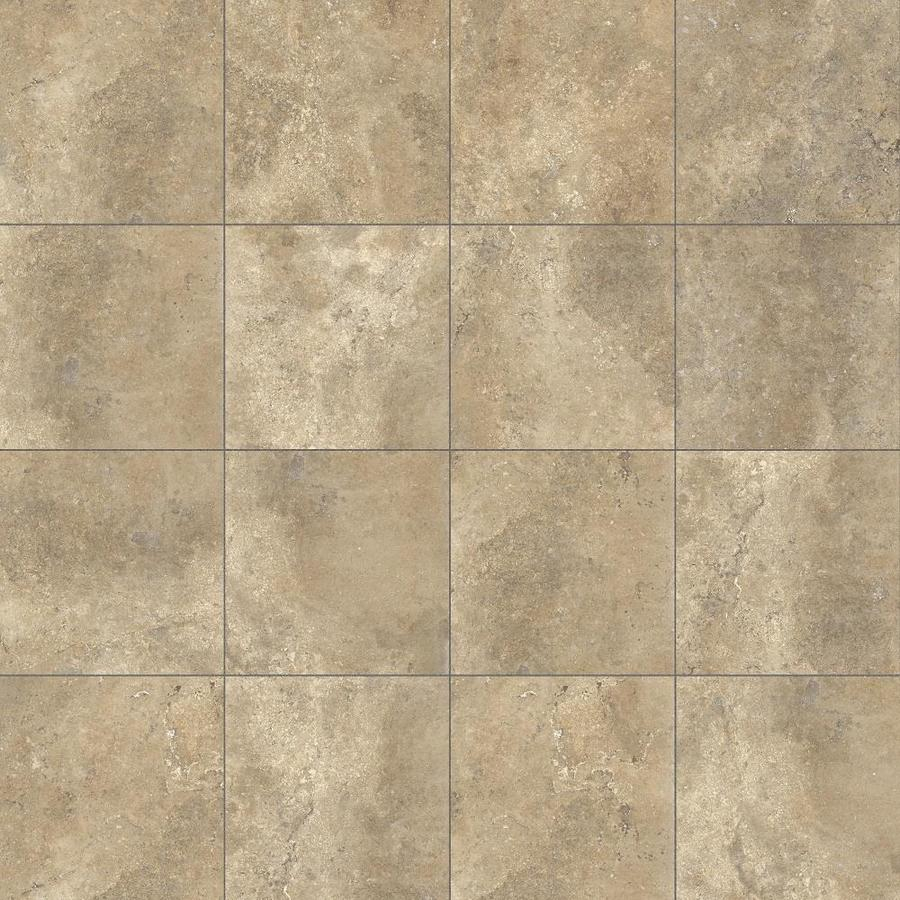 Style Selections Agrippa Noce Porcelain Travertine Floor And Wall Tile (Common: 12-in X 12-in; Actual: 11.76-in x 11.76-in)