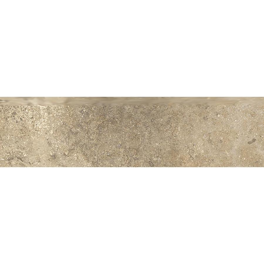Style Selections Agrippa Noce Porcelain Bullnose Tile (Common: 3-in X 12-in; Actual: 2.76-in x 11.76-in)