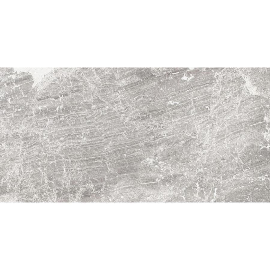 Shop DELLA TORRE Castello Grey Porcelain Floor and Wall Tile (Common ...