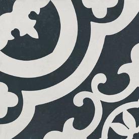DELLA TORRE Cementina Black And White Ceramic Tile Sample Common 8 In X
