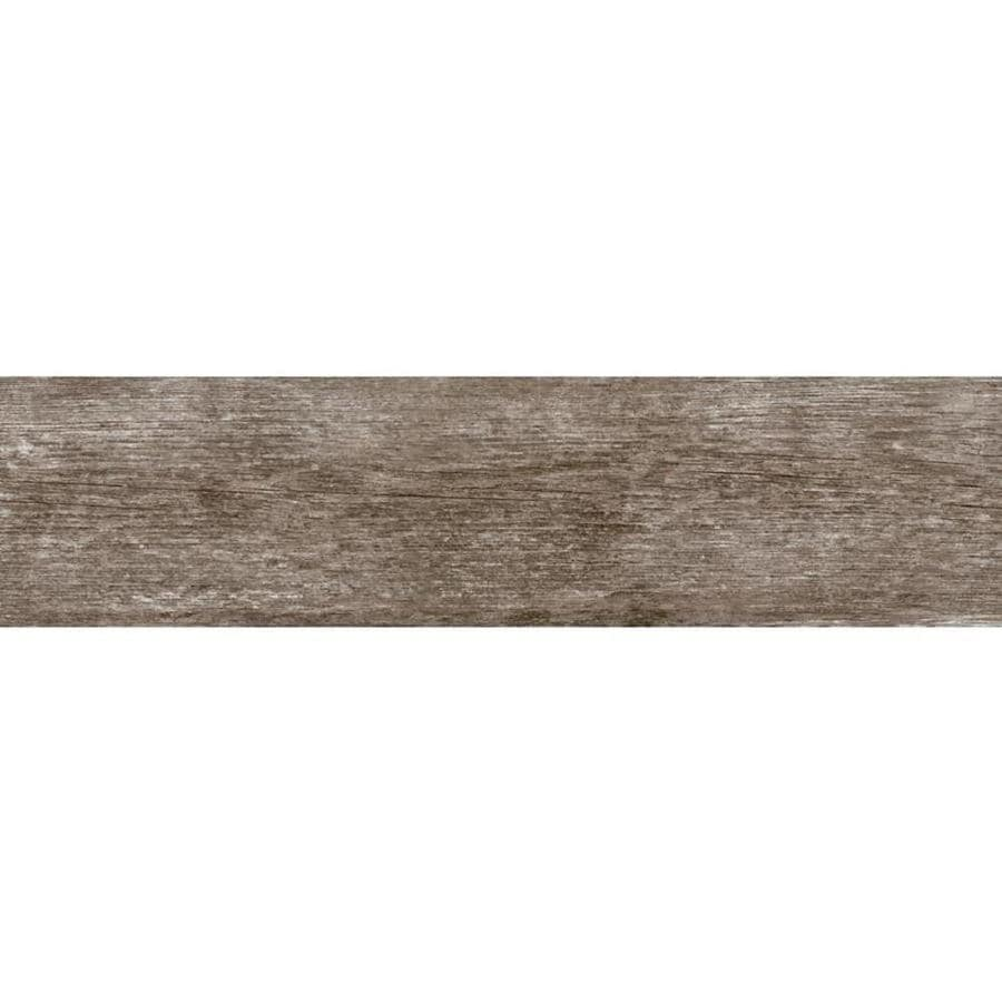 Shop Style Selections Woods French Gray Wood Look Porcelain Tile ...