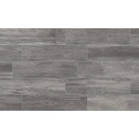 Style Selections Woods Graphite Porcelain Wood Look Floor And Wall Tile Common 6