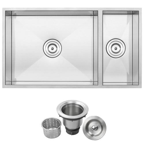 Ticor 31 25 In X 18 In Brushed Stainless Steel Double