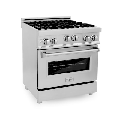Zline Kitchen Amp Bath Rg 4 Burners 4 Cu Ft Self Cleaning