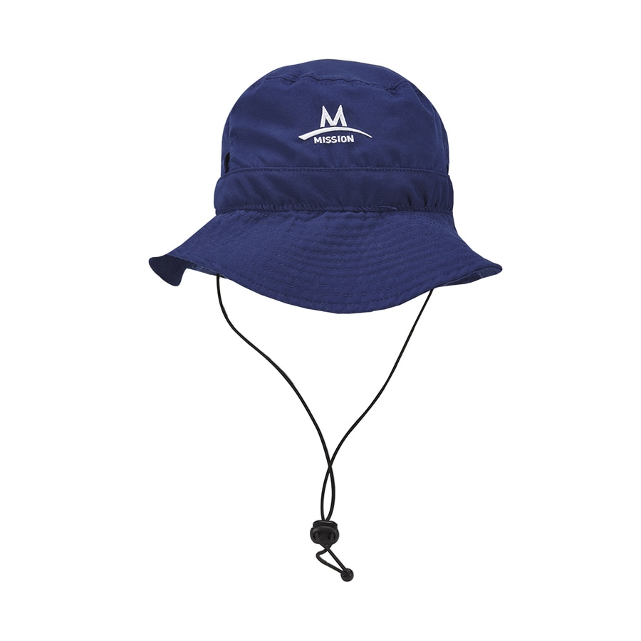 Mission One Size Fits Most Unisex Mission Navy Polyester Flap Cap