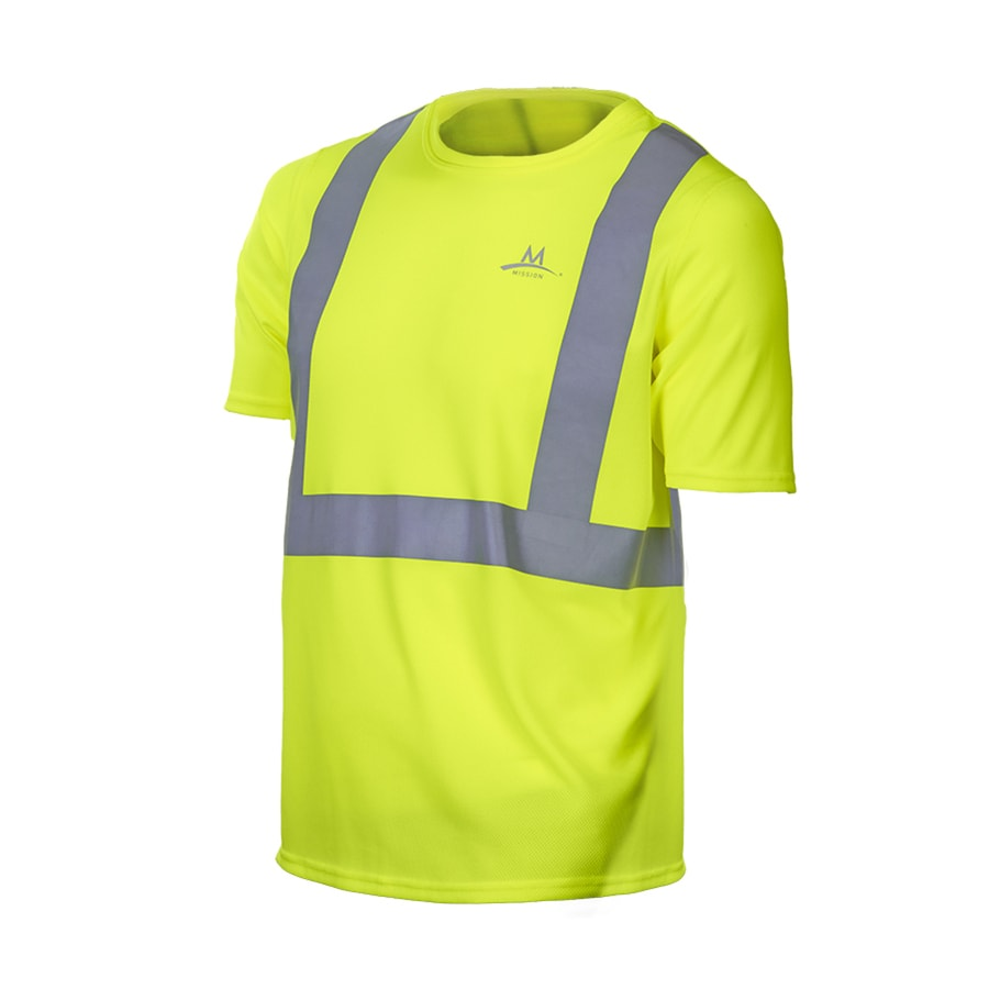 Mission Medium Safety Green High Visibility Reflective Tagless T-Shirt