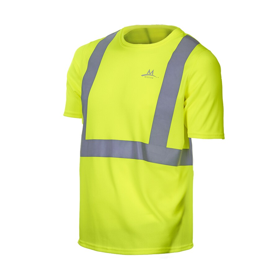 Mission X-Large Safety Green High Visibility Reflective Tagless T-Shirt