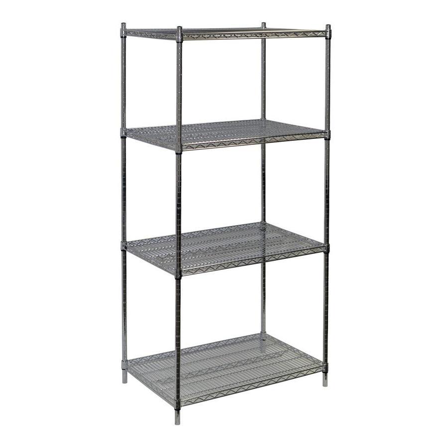 Shop Storage Concepts 86-in H x 36-in W x 18-in D 4-Shelf Wire NSF ...