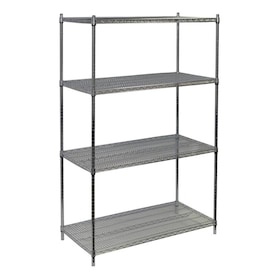 Storage Concepts 18 In D X 48 In W X 63 In H 4 Tier Wire Utility Shelving Unit In The Freestanding Shelving Units Department At Lowes Com