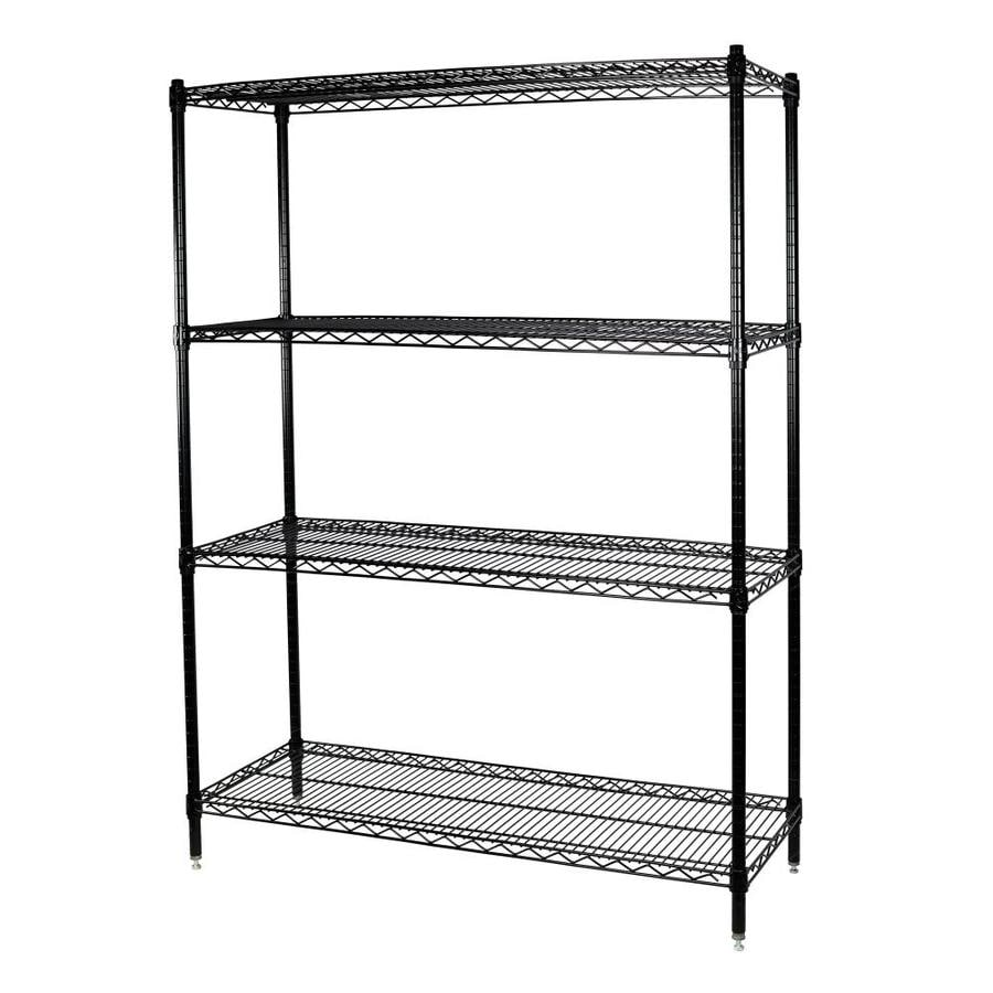 shelving units lowes shop storage concepts 63 in h x 72 in w x 24 in d wire 26054