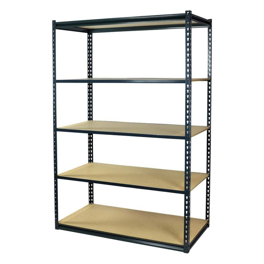 shelving units lowes shop storage concepts 72 in h x 48 in w x 18 in d steel 26054