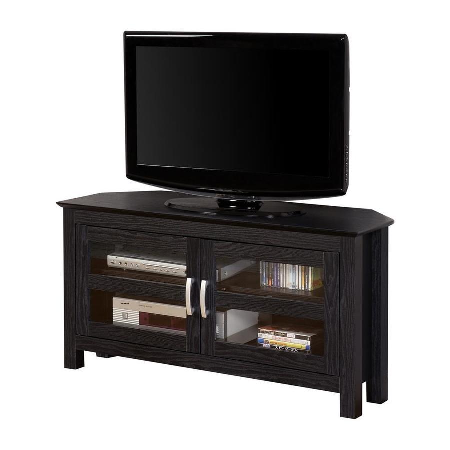 Walker Edison Black Corner Television Stand At Lowes Com