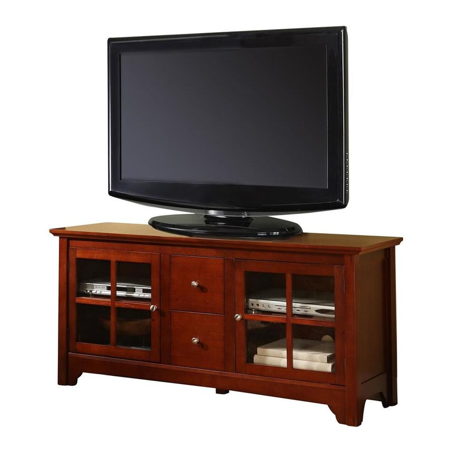 Walker Edison Cherry Tv Cabinet At Lowes Com