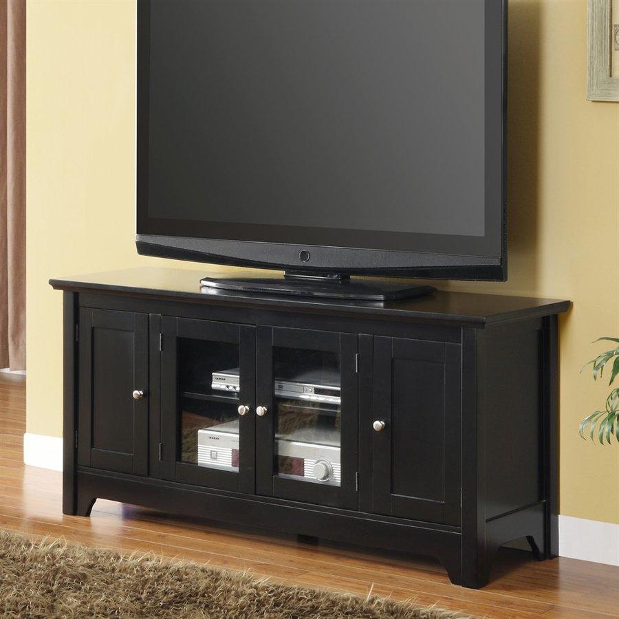 Walker Edison Black Tv Cabinet At Lowes Com