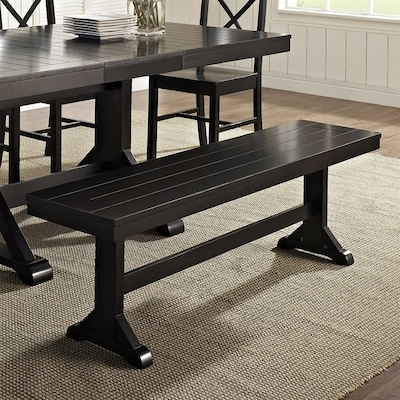 Amazing Walker Edison Antique Black Dining Bench At Lowes Com Ocoug Best Dining Table And Chair Ideas Images Ocougorg