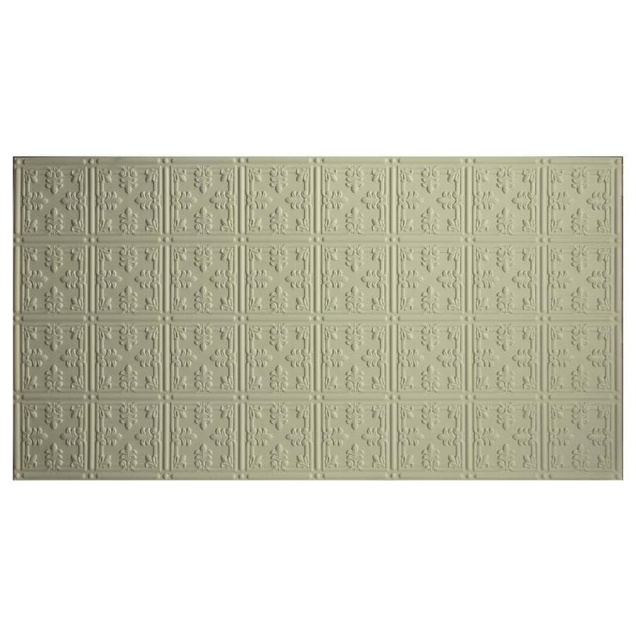 Dimensions (Common: 48-in X 24-in; Actual: 48.5-in x 24.5-in) Creme Faux Tin 3/4-in Surface-mount Acoustic Panel Ceiling Tiles
