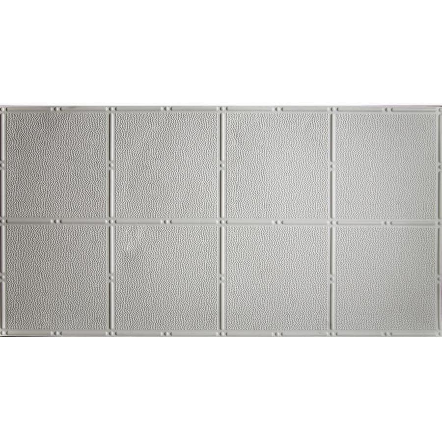 Dimensions Matte White Faux Tin Surface-Mount Acoustic Ceiling Tiles (Common: 48-in x 24-in; Actual: 48.5-in x 24.5-in)