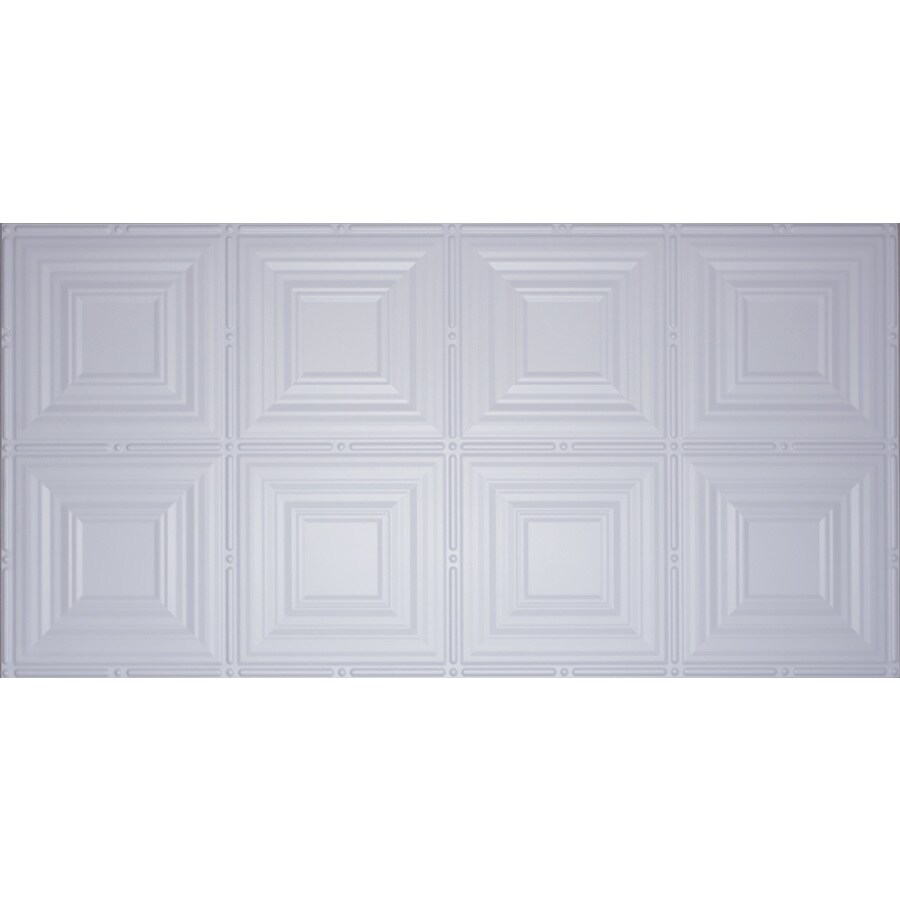 Dimensions White Faux Tin Surface-Mount Ceiling Tiles (Common: 48-in x 24-in; Actual: 48.5-in x 24.5-in)