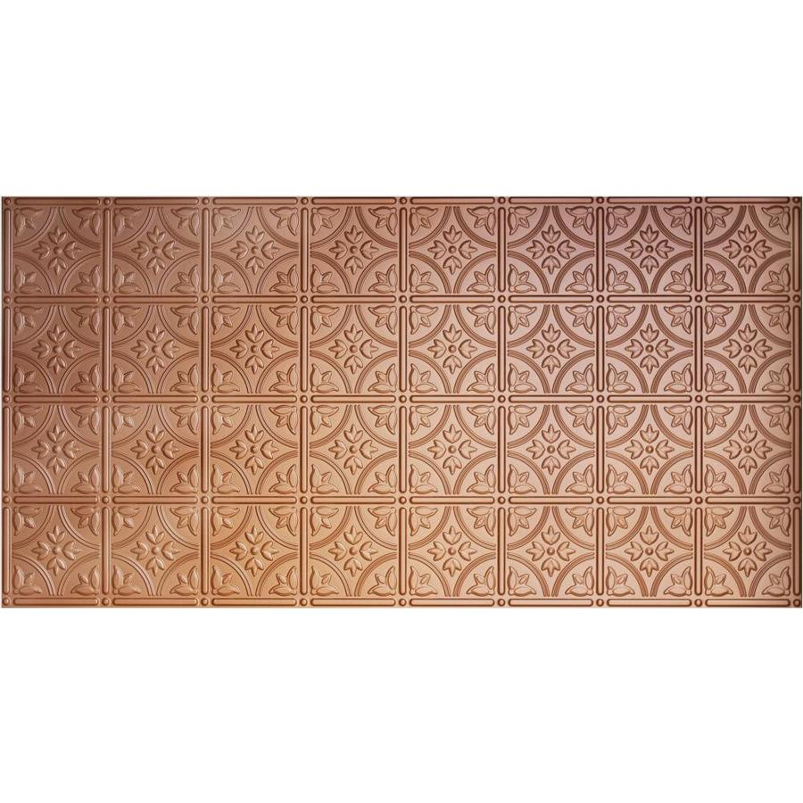 Dimensions Copper Faux Tin Surface-Mount Ceiling Tiles (Common: 48-in x 24-in; Actual: 48.5-in x 24.5-in)