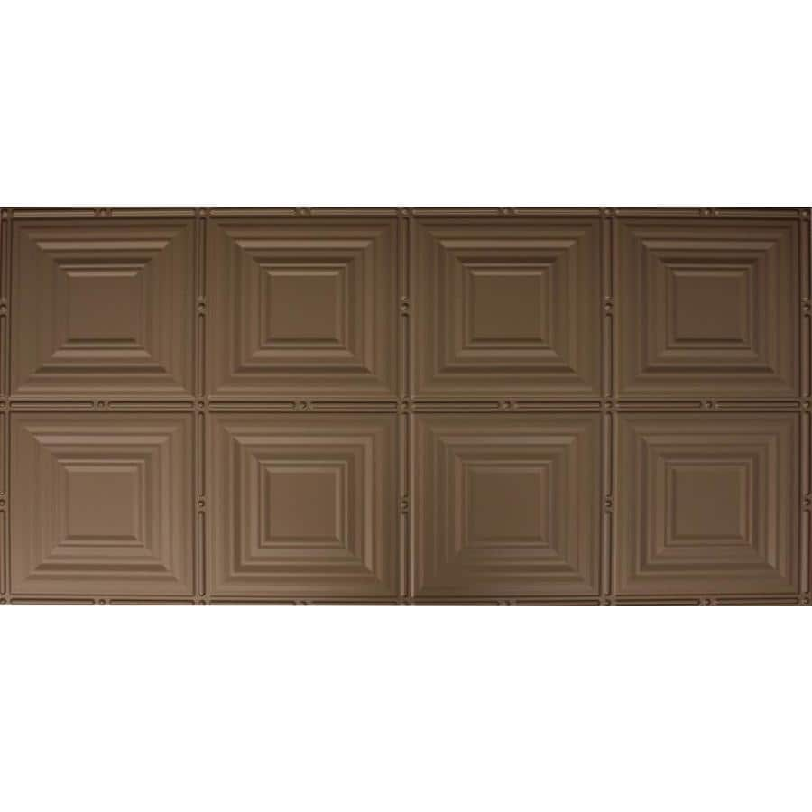 Dimensions Bronze Faux Tin Surface-Mount Acoustic Ceiling Tiles (Common: 48-in x 24-in; Actual: 48.5-in x 24.5-in)
