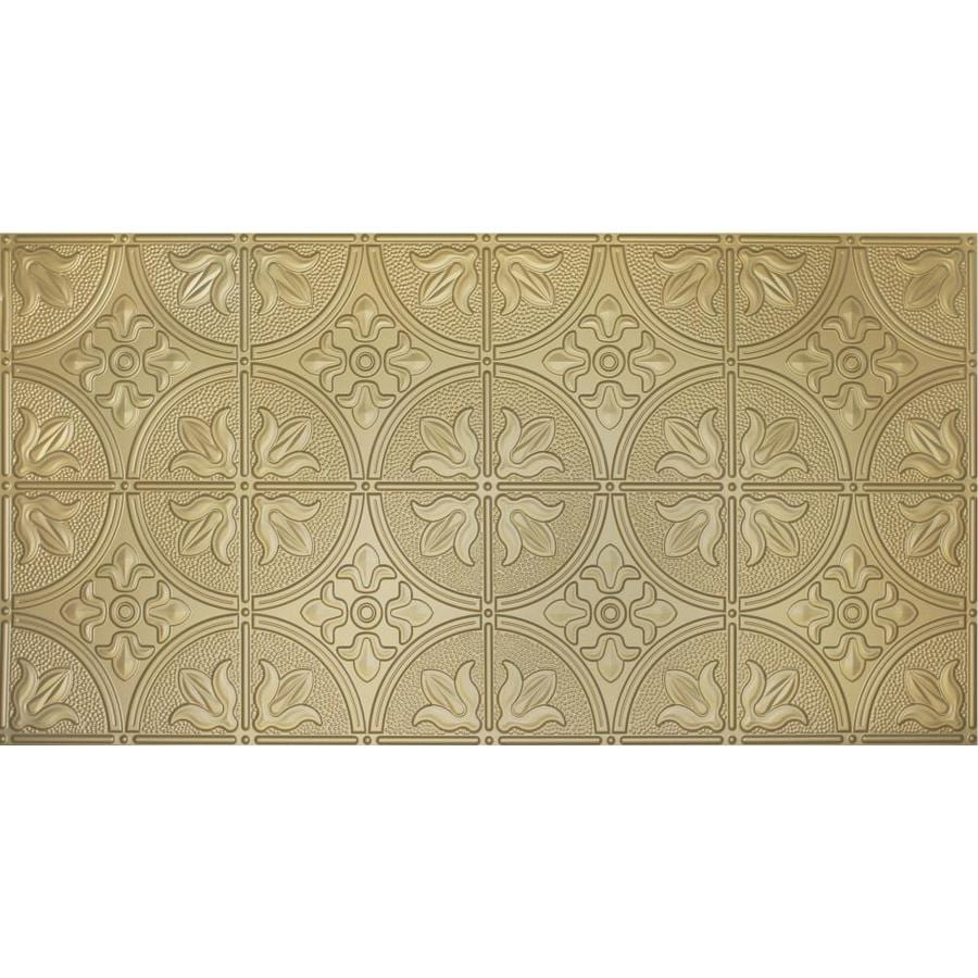 Dimensions Brass Faux Tin Surface-Mount Ceiling Tiles (Common: 48-in x 24-in; Actual: 48.5-in x 24.5-in)