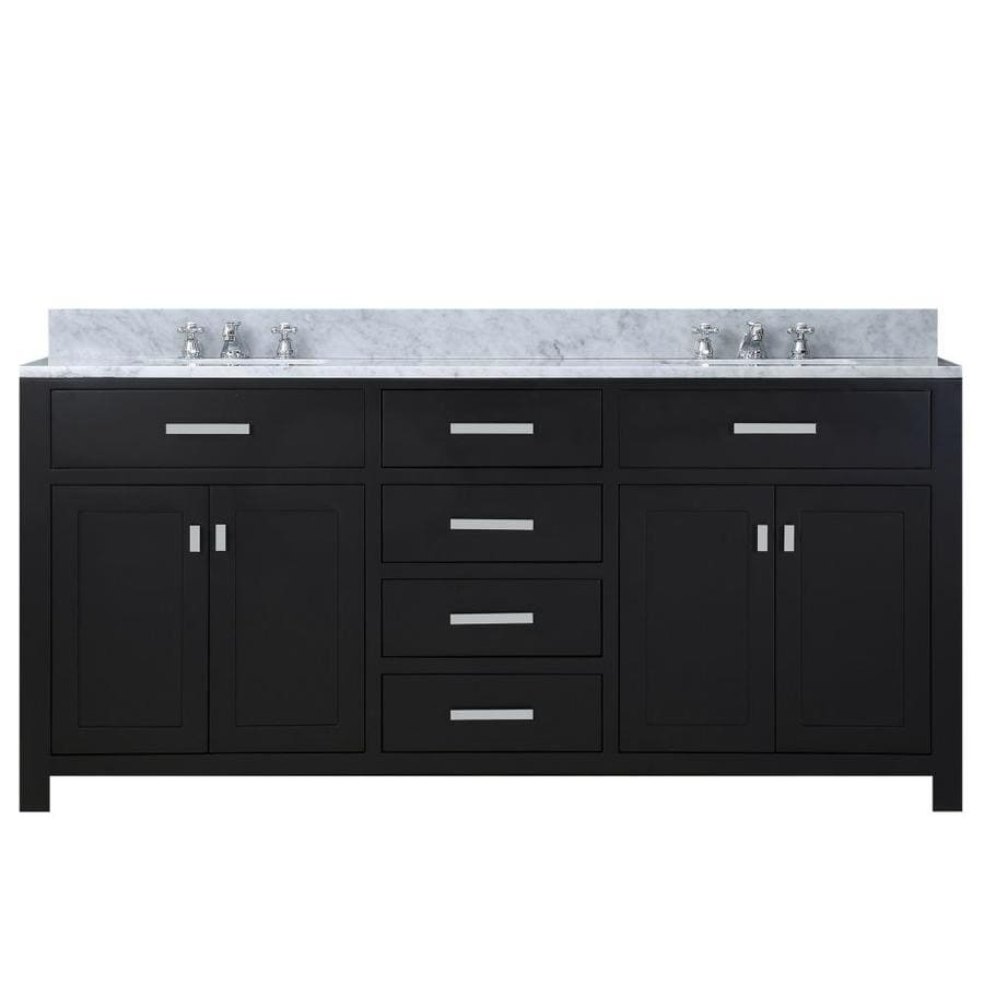 Water Creation Madison Espresso Double Sink Vanity With Carrara White Natural Marble Top Common