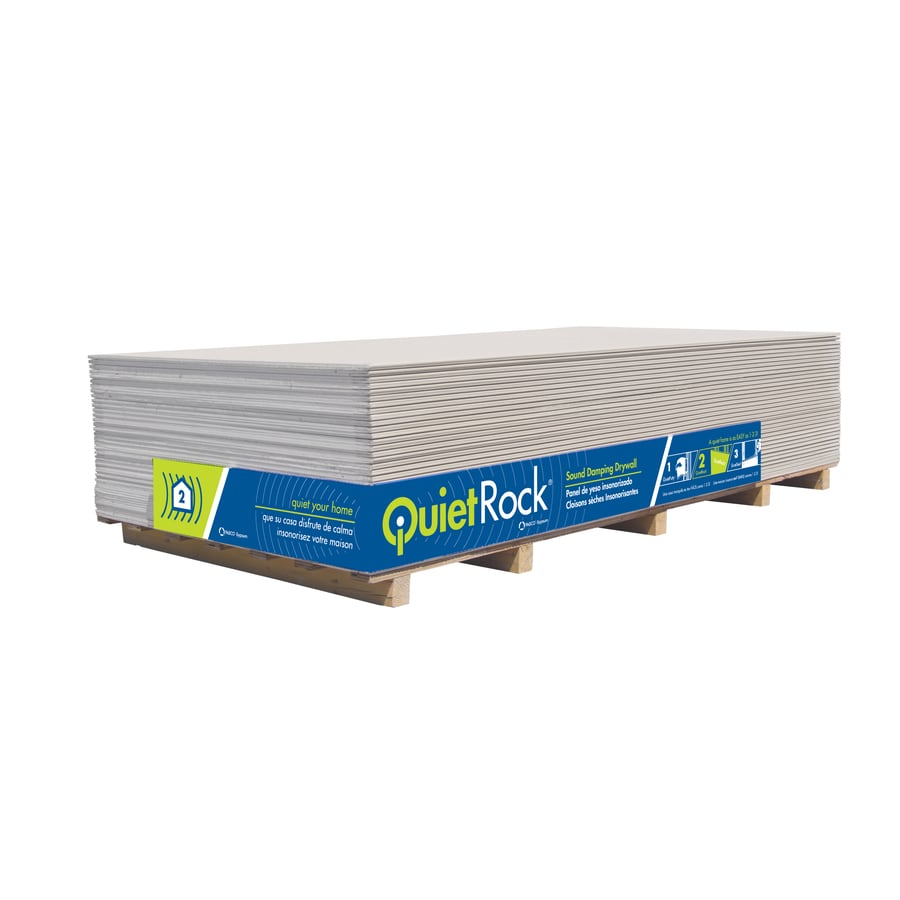 QuietRock (Common: 1/2-in x 4-ft X 8-ft; Actual: 0.5-in x 4-ft x 8-ft) 500 Drywall Panel