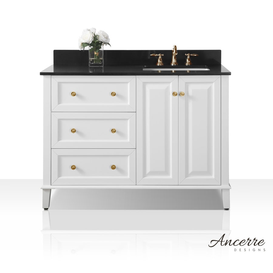 Ancerre Designs Hannah 48-in White Double Sink Bathroom ...