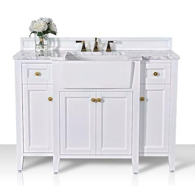 Ancerre Designs Adeline 48 In White Single Sink Bathroom Vanity