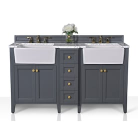 Contemporary Office Interior Design, Ancerre Designs Adeline 60 In Heritage Blue Double Sink Bathroom Vanity With Carrara White Natural Marble Top In The Bathroom Vanities With Tops Department At Lowes Com