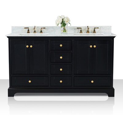 Black Onyx Double Sink Bathroom