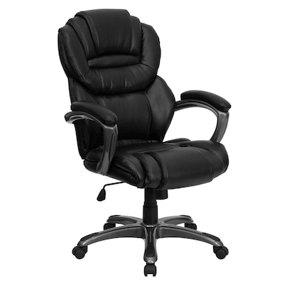 Sensational High Back Black Leather Executive Swivel Ergonomic Office Chair With Arms Dailytribune Chair Design For Home Dailytribuneorg