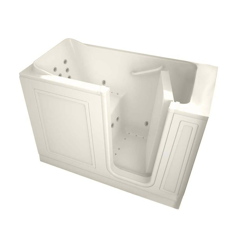 American Standard 48-in L x 28-in W x 38-in H Linen Gelcoat and Fiberglass Rectangular Walk-in Whirlpool Tub and Air Bath