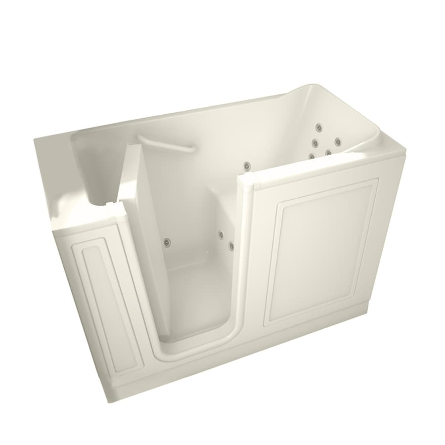 American Standard Linen Gelcoat and Fiberglass Rectangular Walk-in Whirlpool Tub (Common: 28-in x 48-in; Actual: 38-in x 28-in x 48-in)