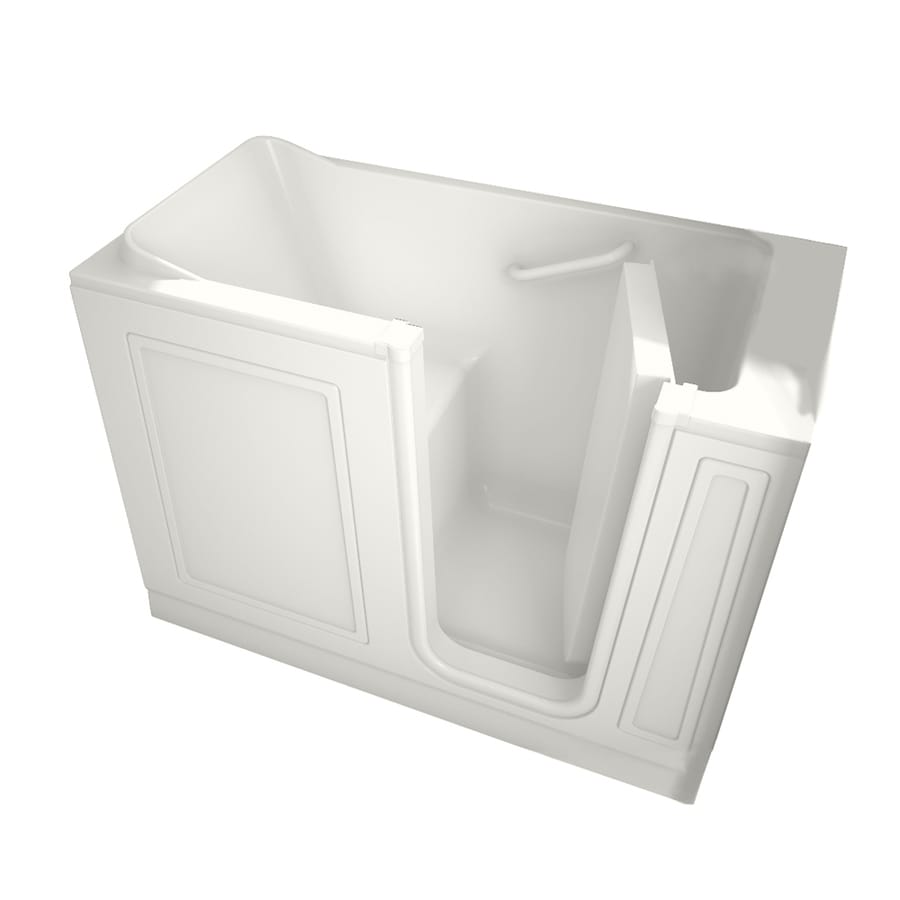 American Standard 48-in L x 28-in W x 37-in H White Acrylic Rectangular Walk-In Bathtub with Right-Hand Drain