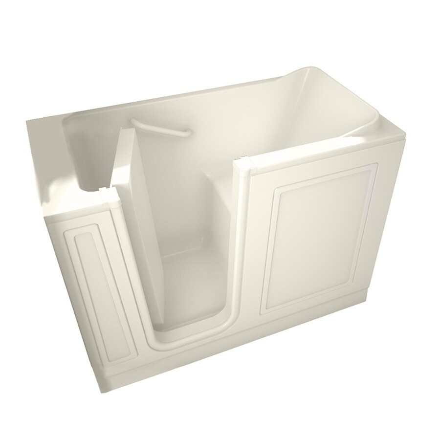 American Standard 48-in L x 28-in W x 37-in H Linen Acrylic Rectangular Walk-In Bathtub with Left-Hand Drain