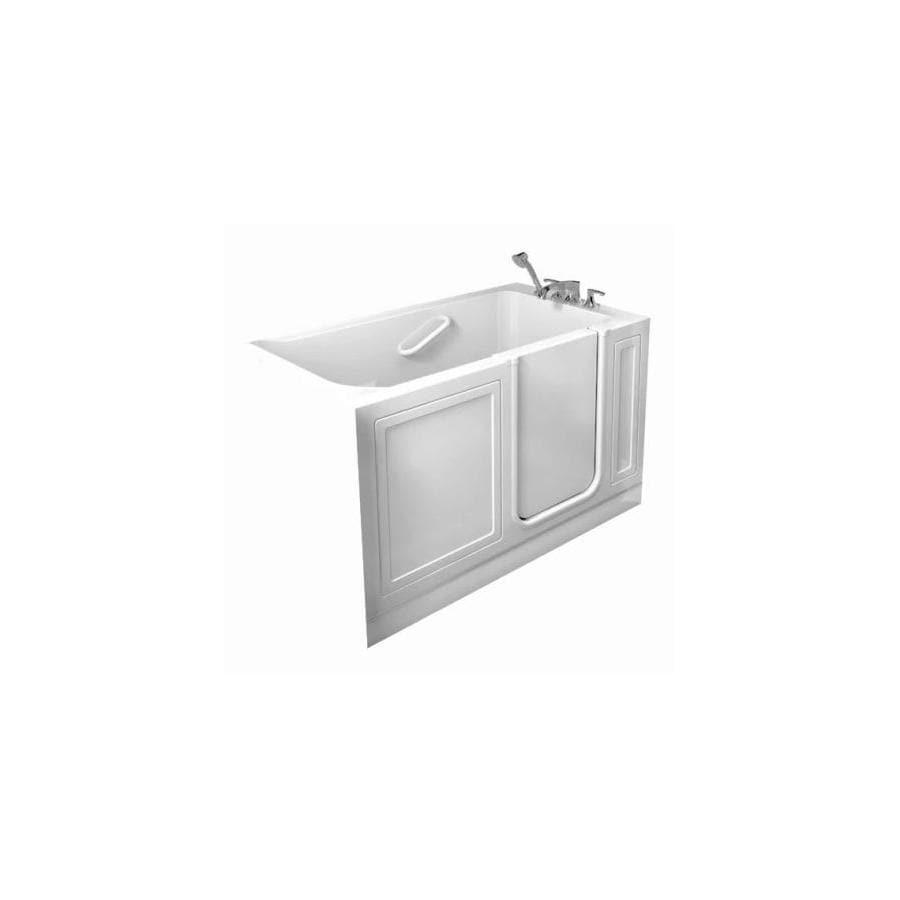 American Standard 48-in L x 28-in W x 37-in H Linen Acrylic Rectangular Walk-In Bathtub with Right-Hand Drain