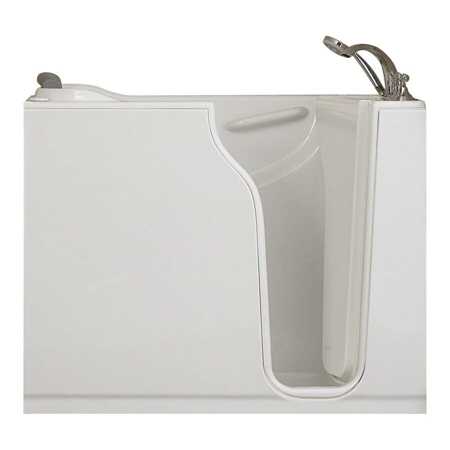 American Standard Walk-in Gelcoat and Fiberglass Rectangular Walk-in Bathtub with Right-Hand Drain (Common: 30-in x 52-in; Actual: 42-in x 30-in x 52-in)