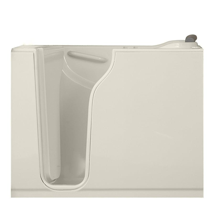 American Standard Walk-in Bath 52-in L x 30-in W x 42-in H White Gelcoat and Fiberglass Rectangular Walk-in Whirlpool Tub and Air Bath
