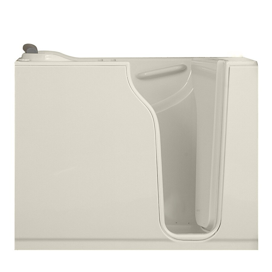 American Standard 52-in L x 30-in W x 42-in H Linen Gelcoat and Fiberglass Rectangular Walk-In Bathtub with Right-Hand Drain