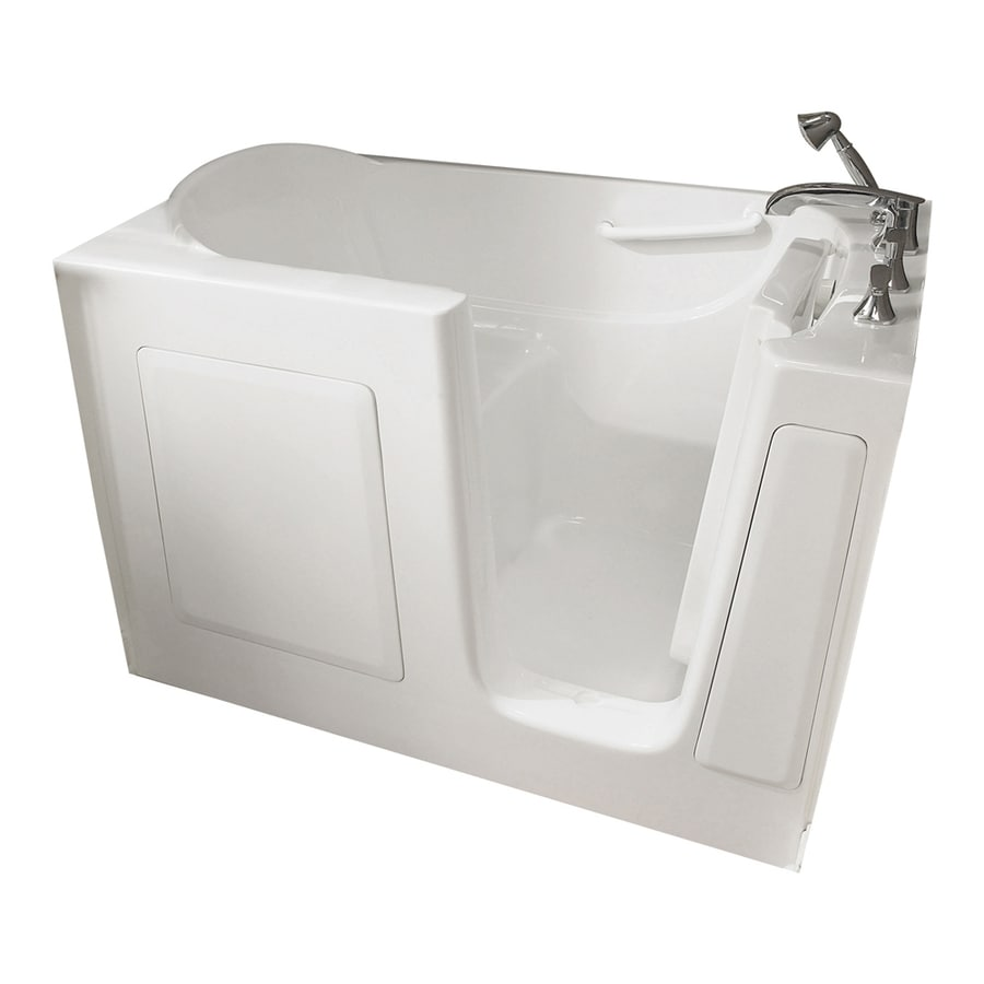 American Standard Walk-In-Baths 60-in L x 30-in W x 38-in H White Gelcoat and Fiberglass Rectangular Walk-in Air Bath
